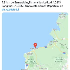 Instituto Geofísico se pronuncia sobre enjambres sísmicos en Esmeraldas