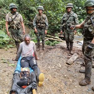 Ejercito realiza patrullaje en zonas mineras de Imbabura