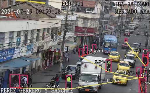 Cámaras del ECU 911 miden el distanciamiento físico y generan alertas en Imbabura