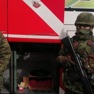 Transportaban material explosivo en un transporte interprovincial