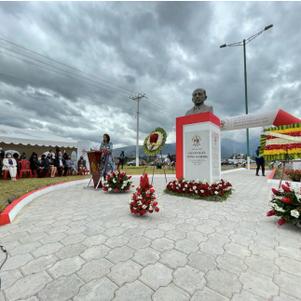 """Fausto Almeida, """"el caballero de la ibarreñidad"""" inmortalizado en un monumento"""