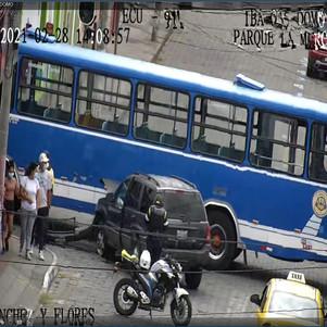 Siniestro de tránsito en el centro de Ibarra fue coordinado por el ECU 911