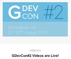 GDevCon#2 Videos are Live!