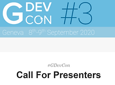 Call for GDevCon#3 Presenters!