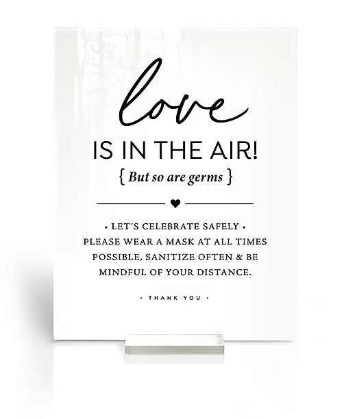 spread love air not germs wedding covid-