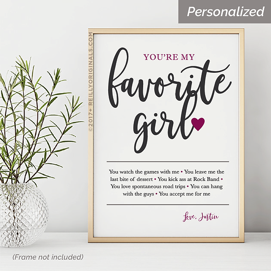 You're My Favorite Girl - Personalized SmileCard™