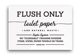AIRBNB business flush only toilet paper