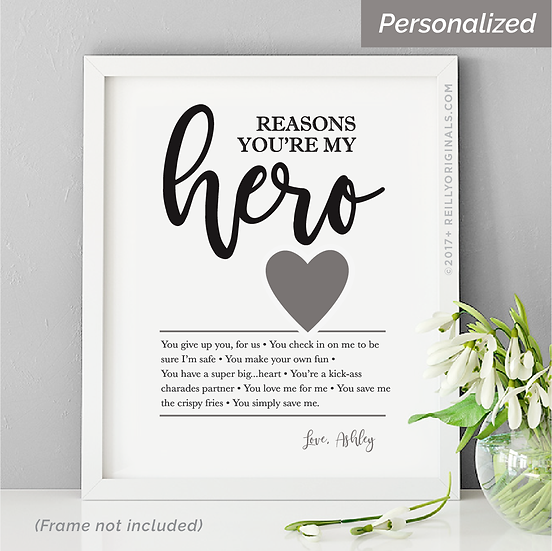 Reasons You're My Hero Personalized Smile Card™