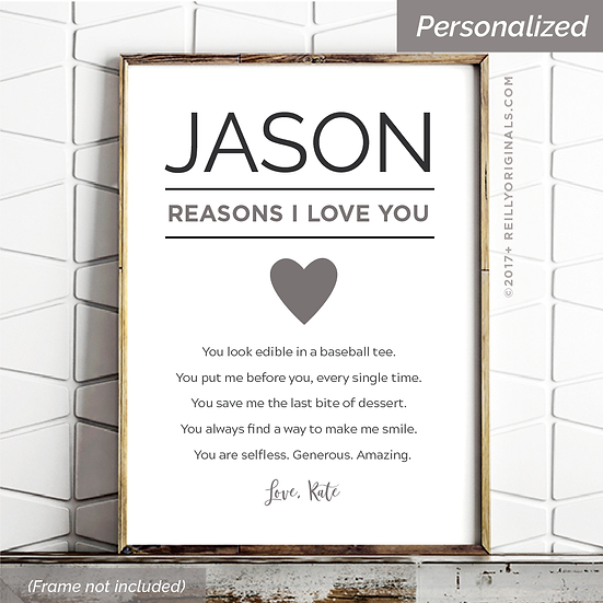 Reasons I Love You - Personalized SmileCard™
