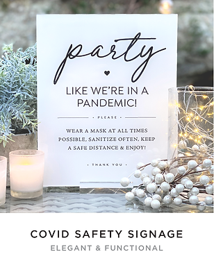 PARTY LIKE WE'RE IN A PANDEMIC COVID SIG