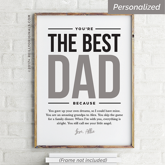 You're The Best Dad Because - Personalized Smile Card™