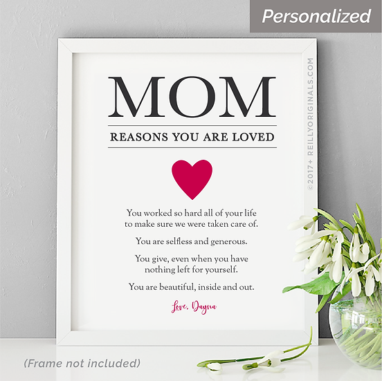 Mom, Reasons You Are Loved - Personalized Smile Card™