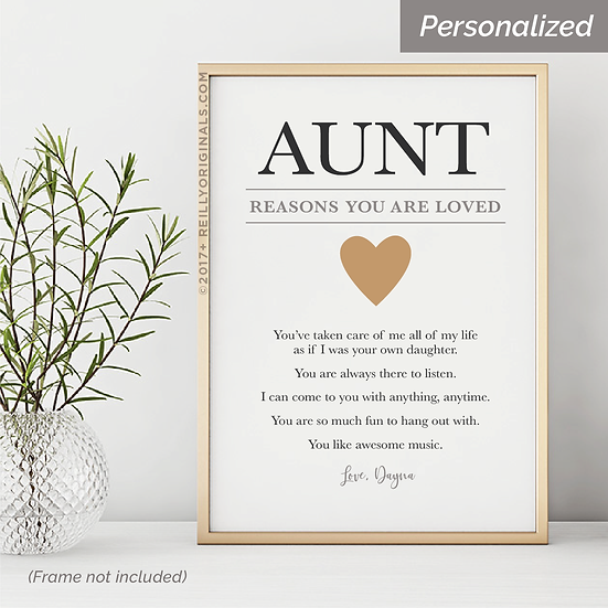 Aunt, Reasons You Are Loved - Personalized SmileCard™
