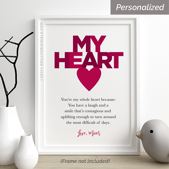"""""""You're My Heart"""" Personalized Smile Card™"""