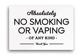 absolutely no smoking vaping any kind si