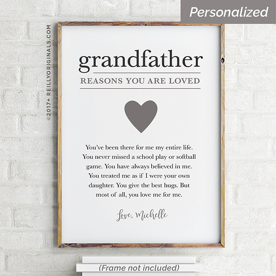 Grandfather, You Are Loved Because - Personalized Smile Card™