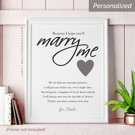 Reasons I Hope You'll Marry Me - Personalized SmileCard™