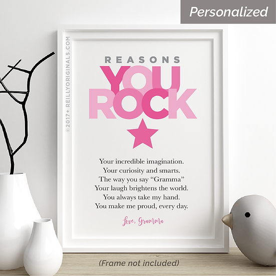 Reasons You Rock Personalized Smile Card™ (Pink)