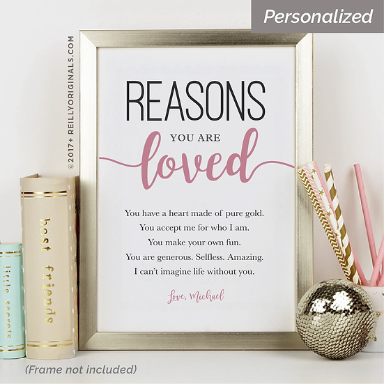 """Reasons you are Loved"" Personalized Smile Card™"