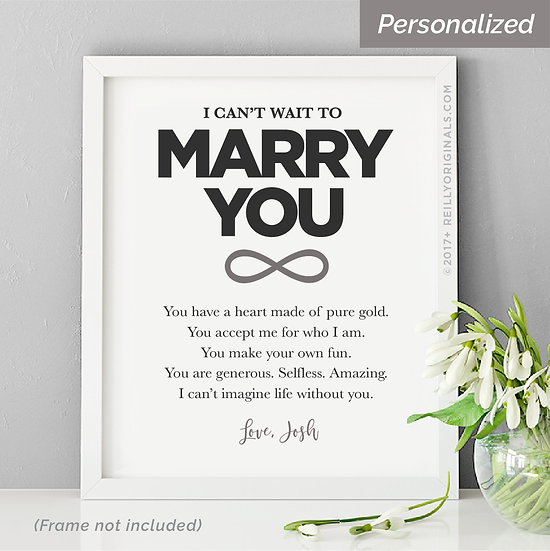 I Can't Wait To Marry You - Personalized Smile Card™