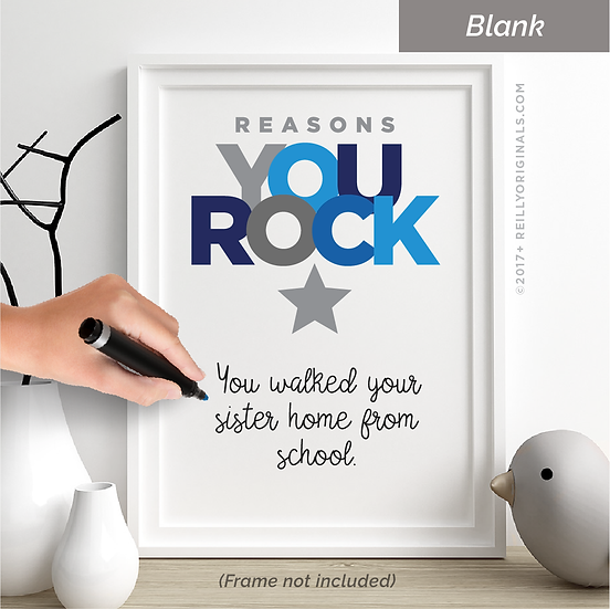 Reasons You Rock Personalized Smile Card™ (Blue)