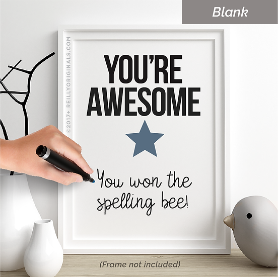 You Are Awesome Personalized Smile Card™ (Star)