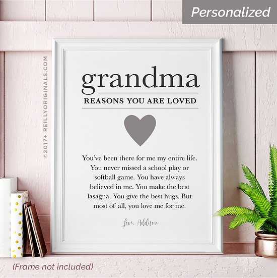 Grandma, You Are Loved Because - Personalized Smile Card™