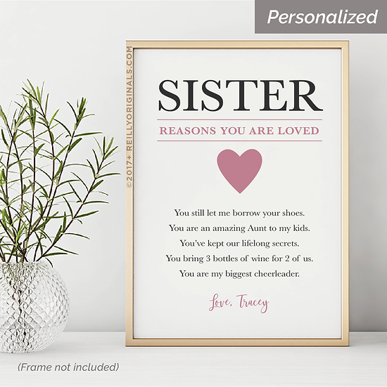 Sister, Reasons You Are Loved - Personalized SmileCard™