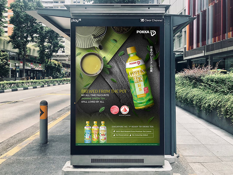 Pokka Jasmine Green Tea Bus Stop Ad 2