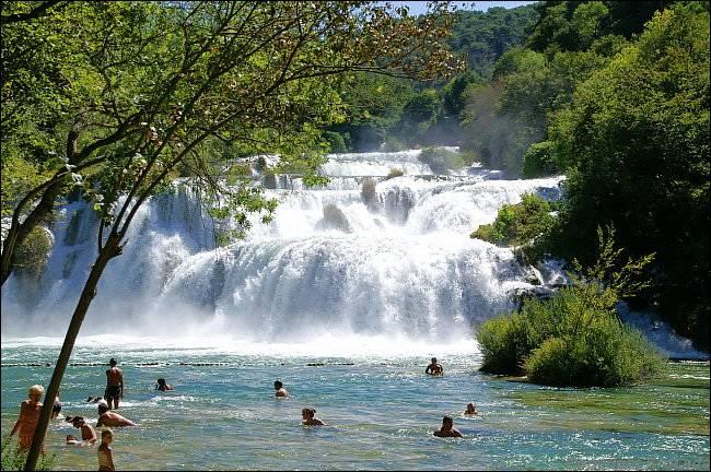 Waterfalls of the river Krka