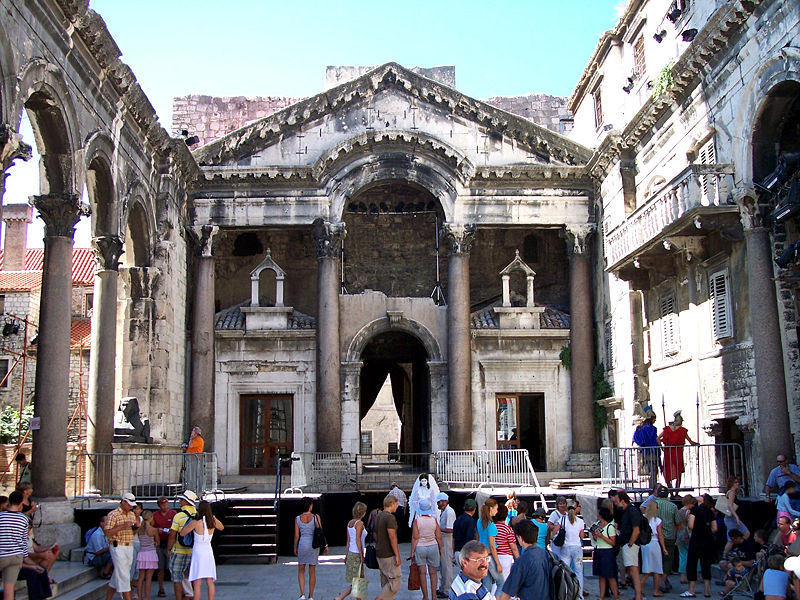 The Roman palace in Split
