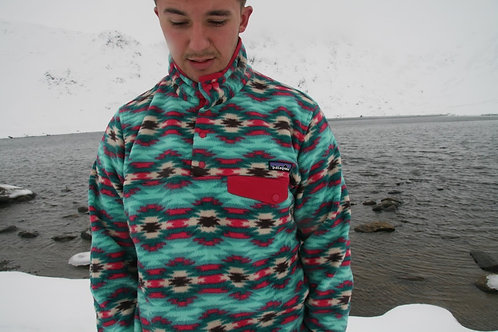Patagonia Snap-T Synchilla Fleece (Rose + Turquoise)