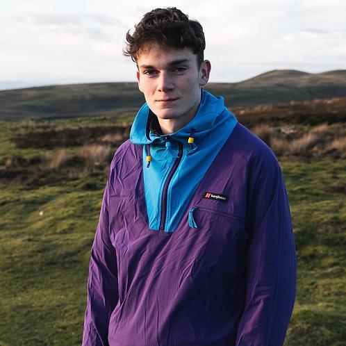 Berghaus Half-Zip Windbreaker Jacket (Purple / Blue)