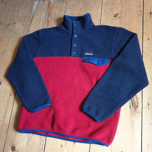 Patagonia Snap-T Synchilla Fleece (Red + Atlantic Blue)