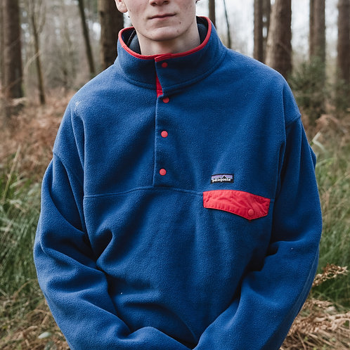 Patagonia Snap-T Synchilla Fleece (Blue / Red)