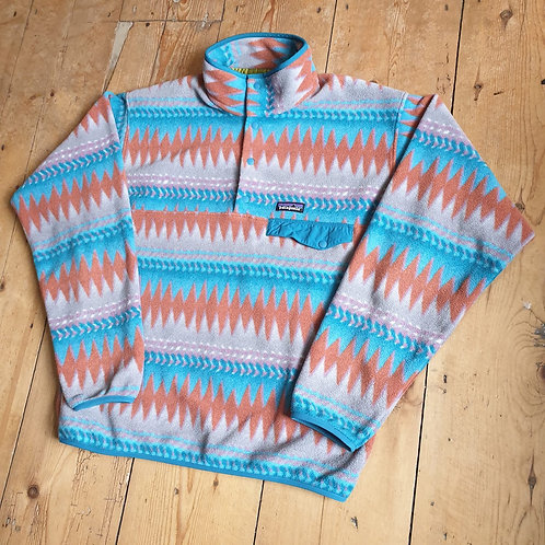 Patagonia Snap-T Synchilla Fleece (Orange / Tan / Turquoise)