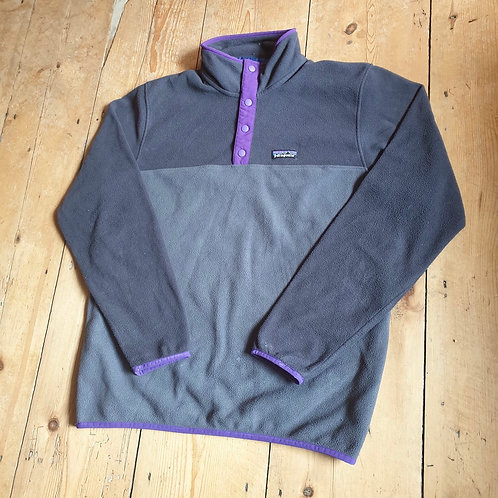 Patagonia Snap-T Synchilla Fleece (Volcanic Grey + Purple)