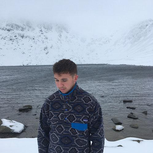 Patagonia Snap-T Synchilla Fleece (Geometric Grey / Blue)