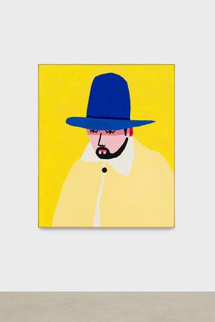 Portait au chapeau bleu