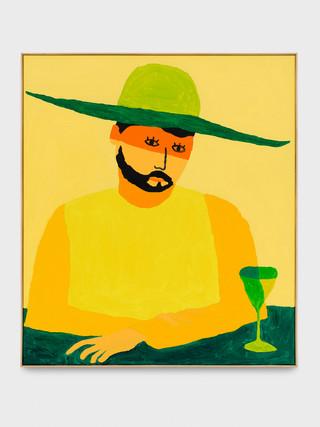 Portait au chapeau vert