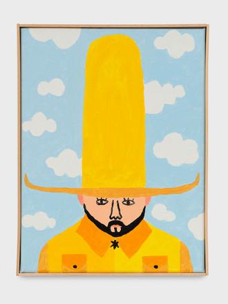 Portait au grand chapeau jaune