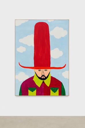 Portait au grand chapeau rouge
