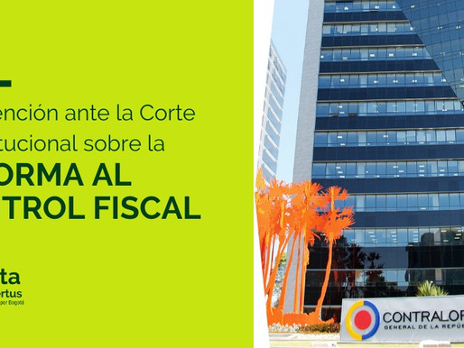 Reforma al control fiscal