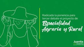 Especialidad Agraria para tercer debate