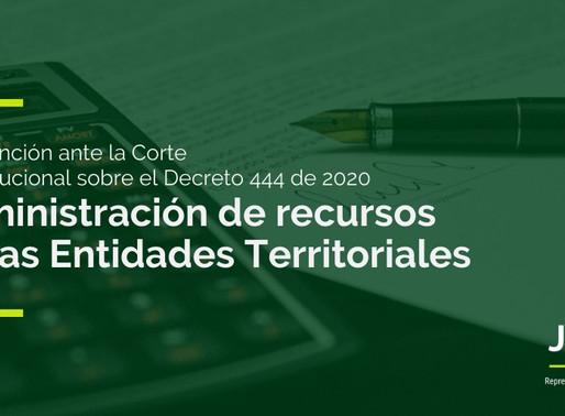 Uso y administración de recursos de entidades territoriales