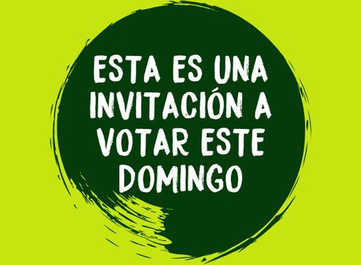 ¡Vamos a votar el domingo!