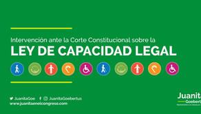 Intervención ante la Corte sobre la Ley de Capacidad Legal