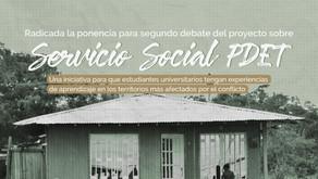 Servicio social PDET: ponencia para segundo debate