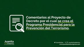 Comentarios al programa de prevención del terrorismo