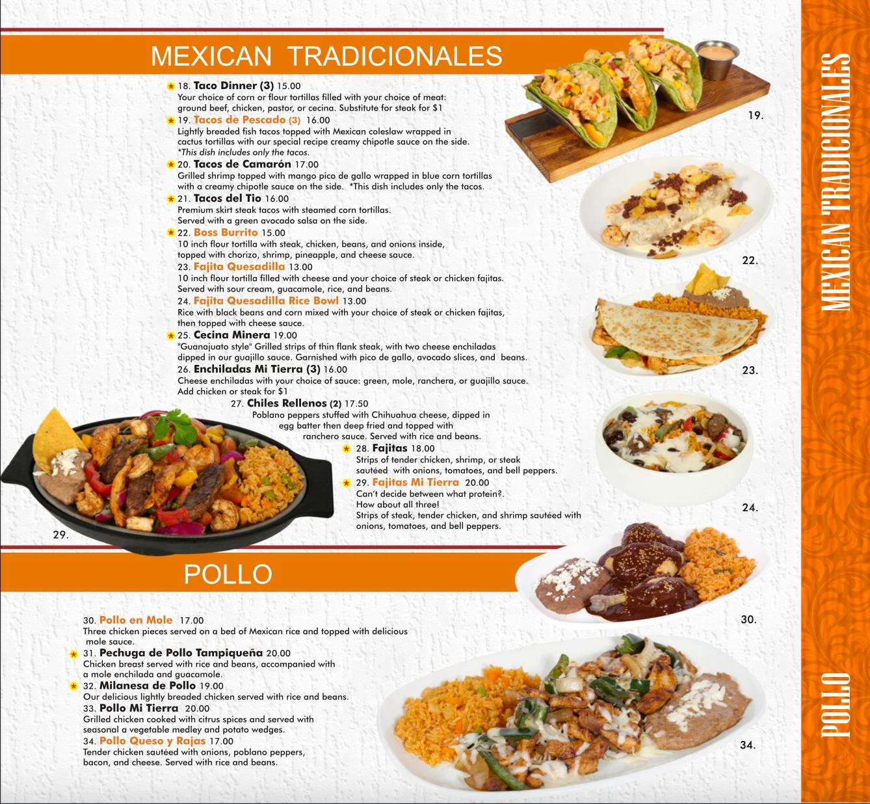 Mexican Traditionals & Pollo